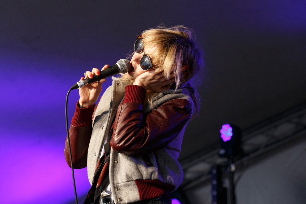 Anteros vocalist Laura Hayden during a performance at 110 Above Festival on 17 June 2016. Photo © Katy Blackwood.