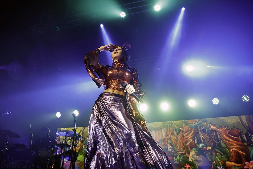 Marina and the Diamonds (Marina Diamandis) performing in Newcastle-upon-Tyne, United Kingdom on 24 November 2015. Photo © Katy Blackwood.