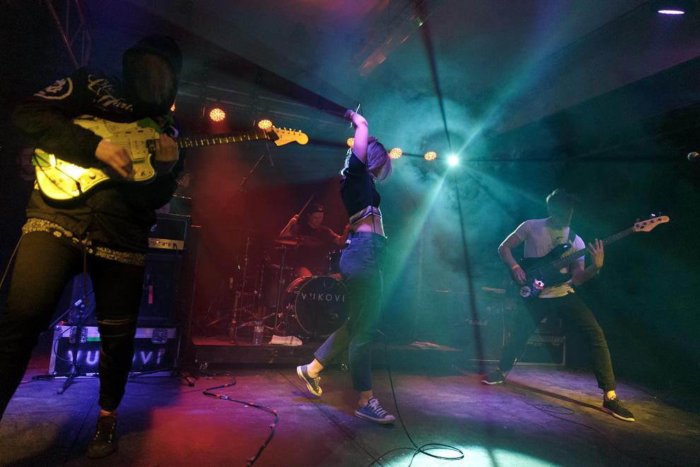 Scottish rock band Vukovi on-stage at 2Q Festival. Photo © Katy Blackwood.